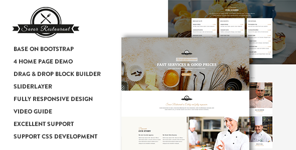 Image of Savor - Restaurant, Cafe & Food Drupal 8 Theme