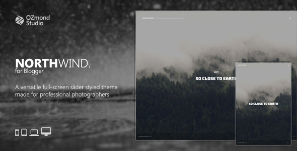 NorthWind: A Versatile Full-Screen Slider Theme for Photographers