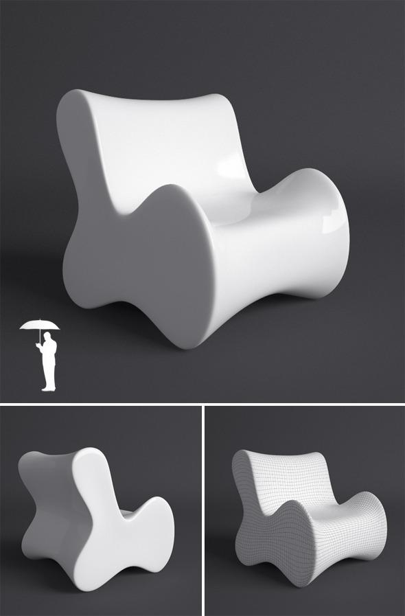 3DOcean Vondom Doux armchair 1871378