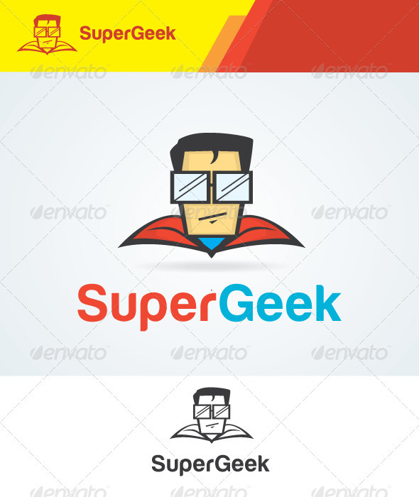 Super Geek Logo is an illustrative logo template that suitable for ...