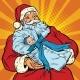 Santa Claus with a Newborn Boy