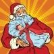 Santa Claus with Gift - Newborn Girl