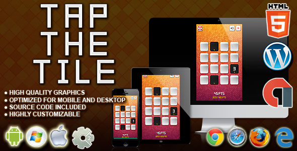 Download Tap the Tile - HTML5 Construct Skill Game nulled download