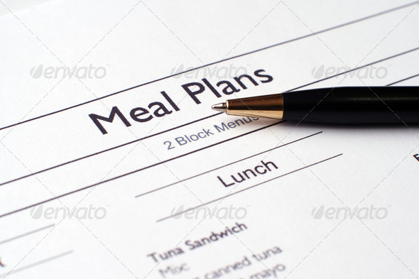Meal plan - Stock Photo - Images