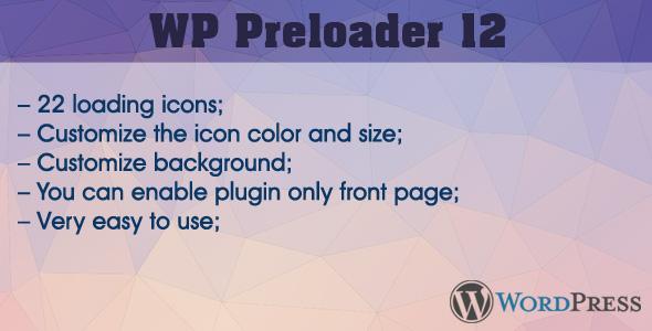 WP Preloader 12 (Utilities)