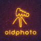 Old Photo Camera Neon Logo - GraphicRiver Item for Sale