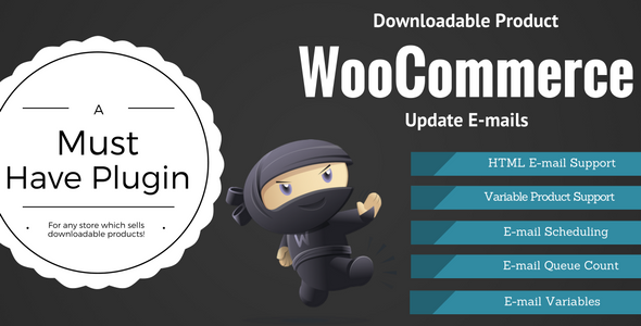 Download WooCommerce Downloadable Product Update E-mails nulled download