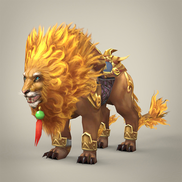 Fantasy Warrior Lion - 3DOcean Item for Sale