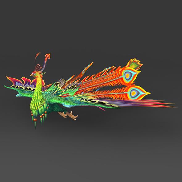 3DOcean Fantasy Peacock 19033834