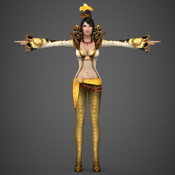 Fantasy Female Queen Sunita - 3DOcean Item for Sale