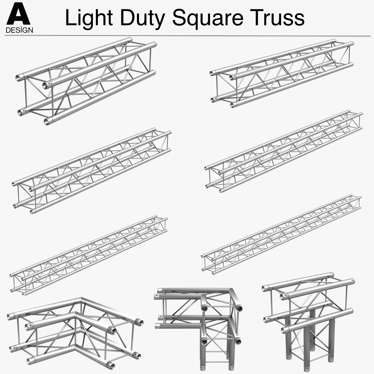 trusses square triangular beam bundle by canan85
