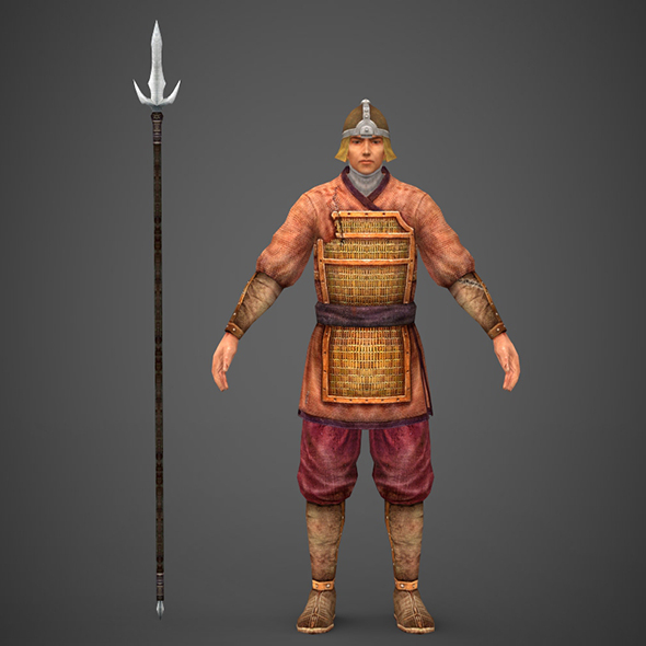 Ancient Warrior - 3DOcean Item for Sale