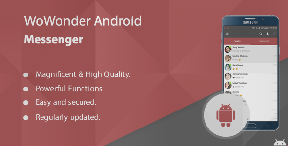 Download WoWonder Android Messenger - Mobile application for WoWonder nulled download