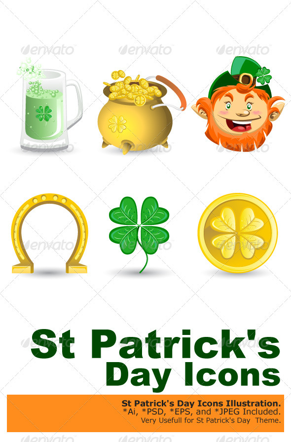 Saint Patrick's Day Icons - Miscellaneous Seasons/Holidays