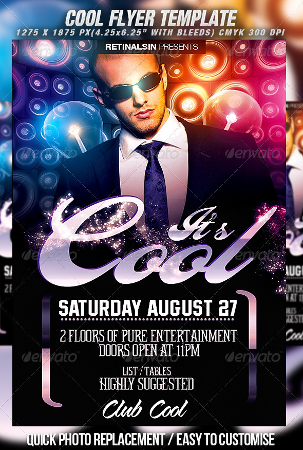 cool flyer template clubs parties events