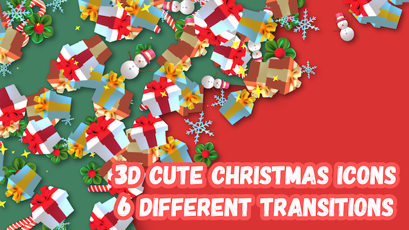 Download 3D Christmas Gifts Transition nulled download