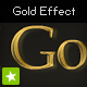 Gold plated text effect - ActiveDen Item for Sale