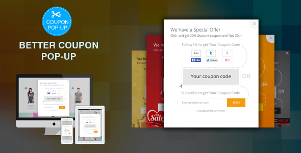 WordPress &amp Woocommerce Far better Discount, Vouchers, Coupon Pop-Up Plugin (WooCommerce)