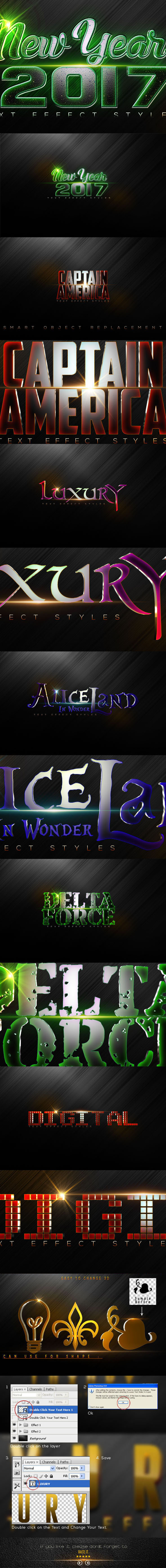 Luxury Text Styles V3B