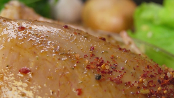 VideoHive Spices on the Chicken Falls 19037318