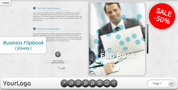 Business FlipBook jQuery Plugin