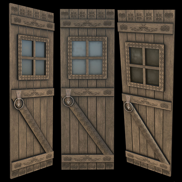 Door Low Poly Game Ready 3D Model - 3DOcean Item for Sale