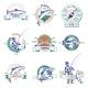 Fishing Colorful Labels Set