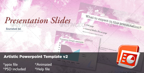Artistic Powerpoint Template v2 - Abstract Powerpoint Templates