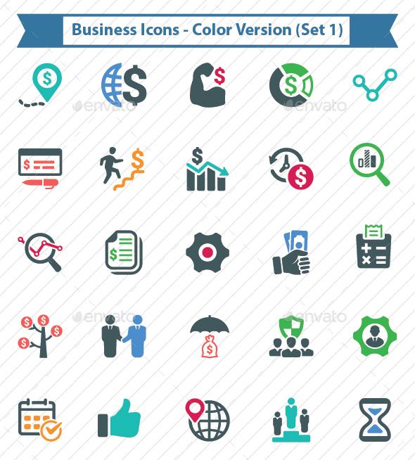 Business Icons - Color Version (Set 1)