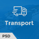 Trust Transport - Transportation and Logistics PSD Template