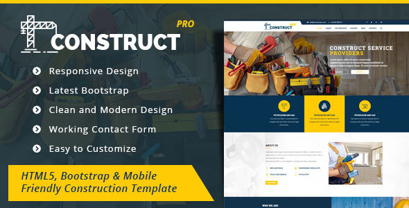 Construction - HTML5 Construction Business Template