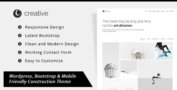 Download Creative Portfolio – Minimal Portfolio WordPress Theme nulled download