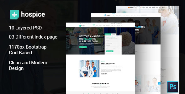 Hospice Medical PSD Template