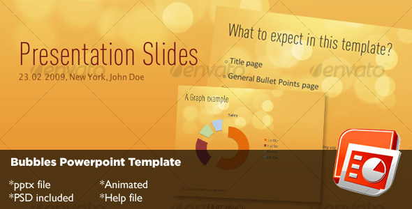 Bubbles Powerpoint Template - Abstract Powerpoint Templates
