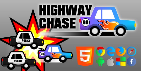 Download Highway Chase - HTML5 Game nulled download