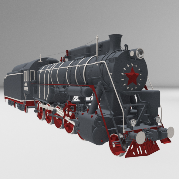 Locomotive - 3DOcean Item for Sale