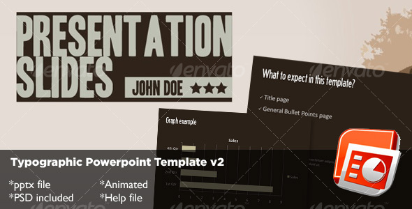 GraphicRiver Typography Powerpoint Template v2 72678