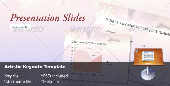 Artistic Keynote Template - Abstract Keynote Templates