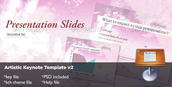 Artistic Keynote Template v2 - Abstract Keynote Templates