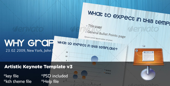 Artistic Keynote Template v3 - Abstract Keynote Templates