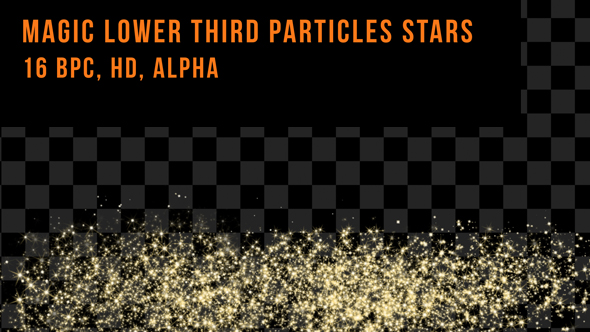 Download Magic Lower Third Particles Stars nulled download