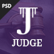 Judge - PSD Template for Law Firm and Lawyer