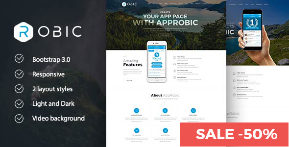 Robic - Multipurpose Landing Page Joomla Template