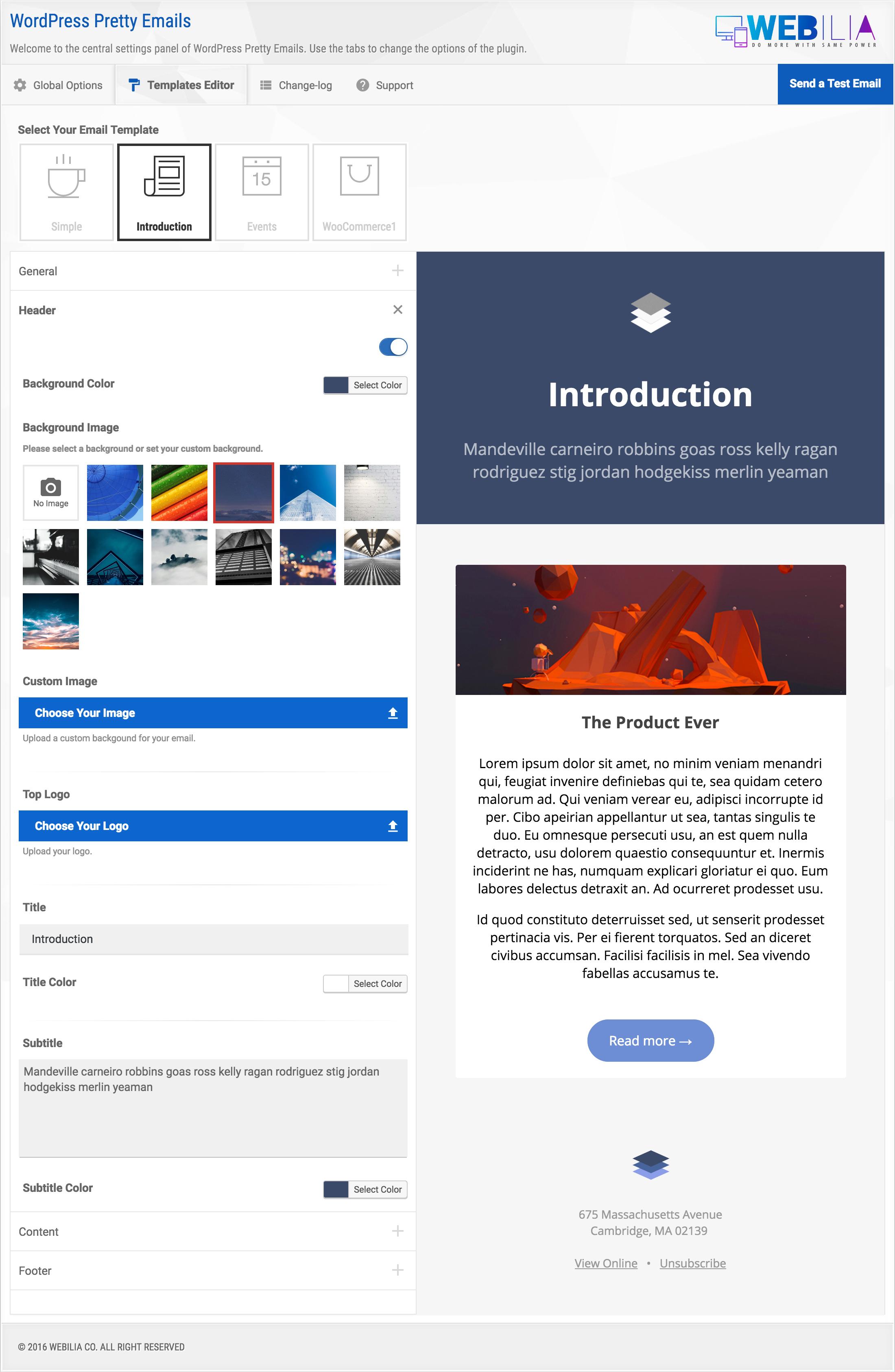 Wordpress pretty html emails responsive modern html for Modern email design