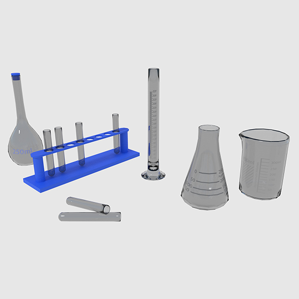 Scientific - Medical Glassware - 3DOcean Item for Sale
