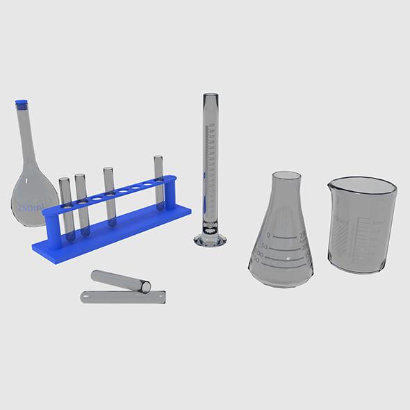 3DOcean Scientific Medical Glassware 19047454