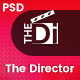 The Director - Film Director & Video Portfolio PSD Template