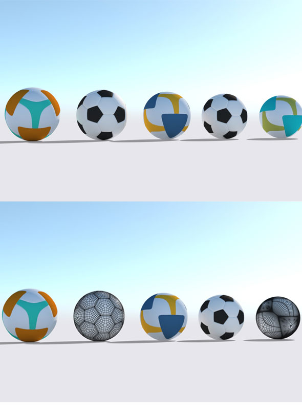 3d Football Model - 3DOcean Item for Sale