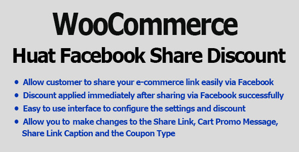 Download WooCommerce Facebook Share Discount Pro nulled download