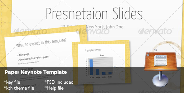 Paper Keynote Template - Creative Keynote Templates